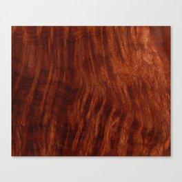 Beautiful Unique mahogany red wood veneer design Canvas Print