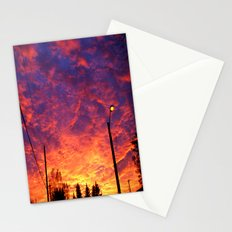 Street lamp glow  Stationery Cards