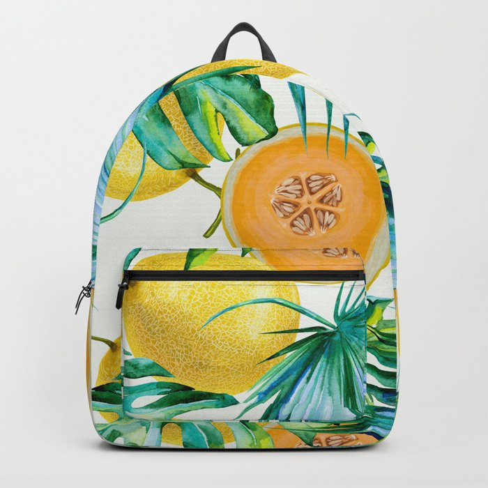 Leaf and melon pattern Backpack