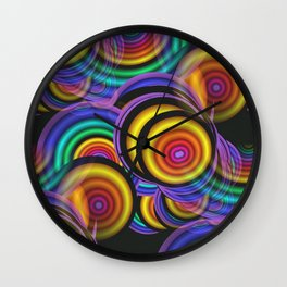 fractal, round and seamless Wall Clock