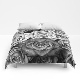 The Roses (Black and White) Comforters