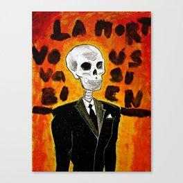 La mort vous va si bien II Canvas Print