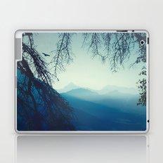 blue morning - vertical tapestry Laptop & iPad Skin