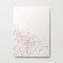 Pink Wild Flowers Metal Print