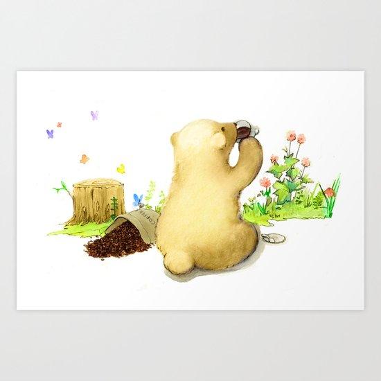 Coffee Bear Art Print