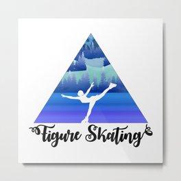 Figure Skating Female Skater Gift Metal Print