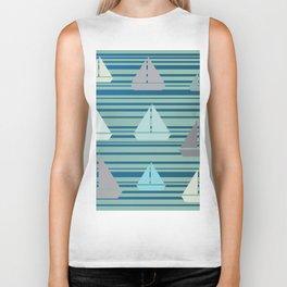 Boats & Stripes Biker Tank