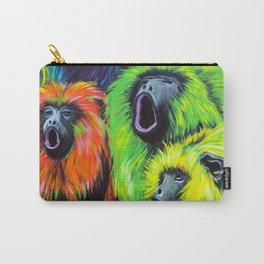 Urban Street Art: Screaming Fluorescent Monkeys Carry-All Pouch