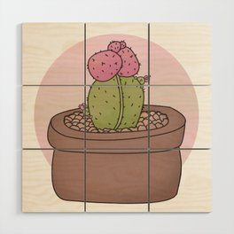 Moon Cactus Guardians Wood Wall Art