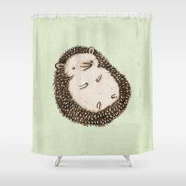 Plump Hedgehog Shower Curtain