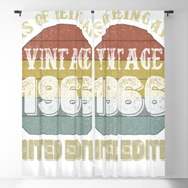 55 Year Old Gifts Vintage 1966 Limited Edition 55th Birthday Blackout Curtain