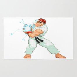 Ryu Hoshi Hadoken Pixel Art Rug