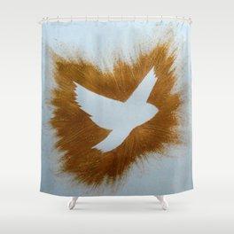 THEPEACEBOMB GOLDE GLITTER Shower Curtain