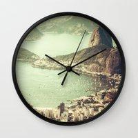 rio Wall Clocks featuring Rio by afzucatti