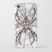 spider iPhone & iPod Cases featuring Spider by Laura Maxwell