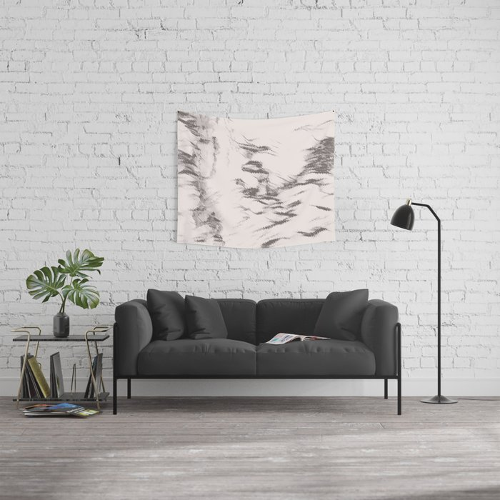 I See Beauty - Warm Black & White Wall Tapestry