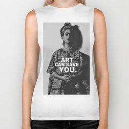 ART CAN SAVE YOU. Biker Tank