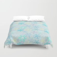 icy snowflakes Duvet Cover