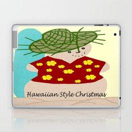 Hawaiian style Christmas snowman Laptop & iPad Skin