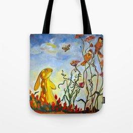A Rabbit in the Garden Tote Bag