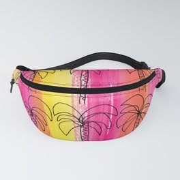 Live For the Moment (palm trees pattern summer beach tropical) Fanny Pack