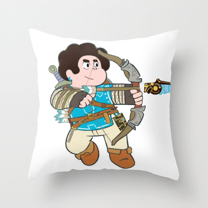 Steven breath of the wild Throw Pillow
