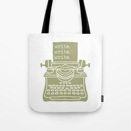 Write. Write. Write. (Green) Tote Bag
