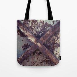 Rusty Metal Cross Tote Bag
