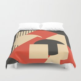 Geometrical abstract art deco mash-up Duvet Cover