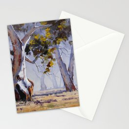 Misty Gum trees Stationery Cards