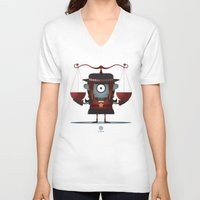 libra V-neck T-shirts featuring LIBRA by Angelo Cerantola