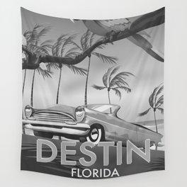 Destin Florida USA Black and white Wall Tapestry