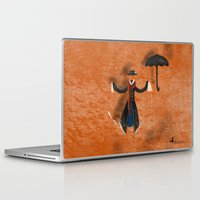 mary poppins Laptop & iPad Skins featuring Mary Poppins by fedralita