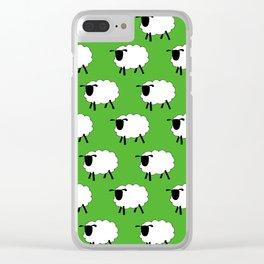 Flock of Cartoon Sheep Clear iPhone Case