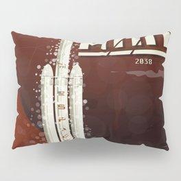 Spacex rocket to Mars Pillow Sham