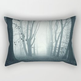 blue forest Rectangular Pillow