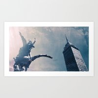 and we watched Pegasus take flight Art Print