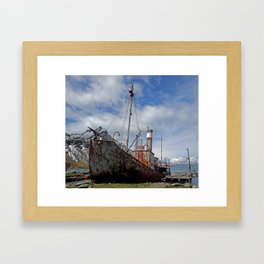 Whaling Ship Framed Art Print