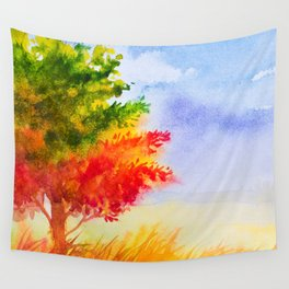 Autumn scenery #9 Wall Tapestry