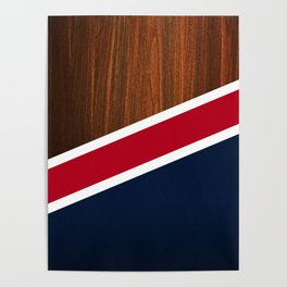 Wooden New England Poster