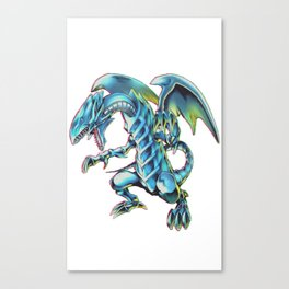 Blue Eyes White Dragon Yu-gi-oh Canvas Print