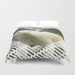 Polar Baer in heart shape Duvet Cover