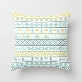 Aztec Influence Ptn Colorful Throw Pillow