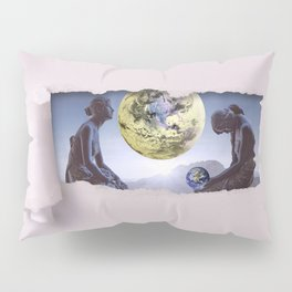 Untimely Ripped Voyeur Views: The World is in Our Hands Pillow Sham