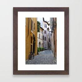 Cobblestone Road, Rome.  Framed Art Print