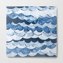 Abstract Blue Sea Waves Design by oursunnycdays