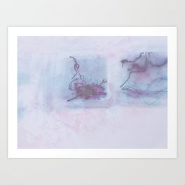 Tail-end Marble Art Print