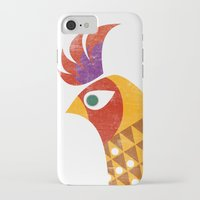 rooster iPhone & iPod Cases featuring Rooster by Jackie Sullivan