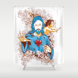 Love of god christ Shower Curtain