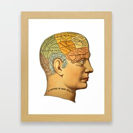 Phrenology | A Picture of Good Health circa 1881 Framed Art Print